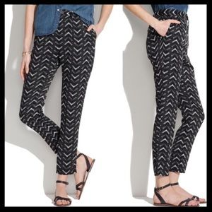 Madewell Delancey Printed Trousers